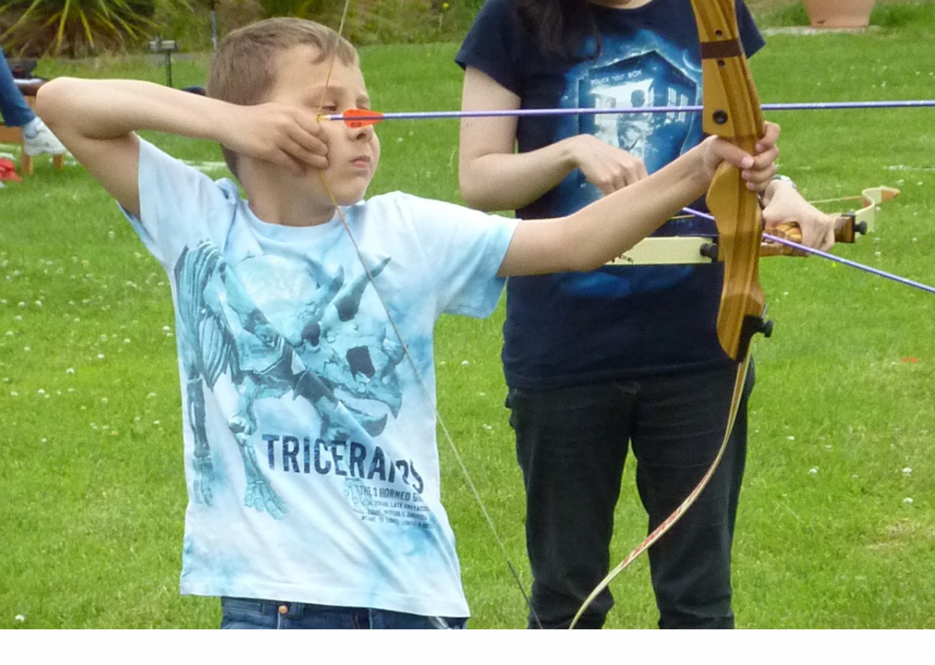 Another young person hooked on archery